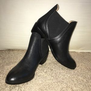 Splendid Henri Leather Mixed Media Booties Black 8